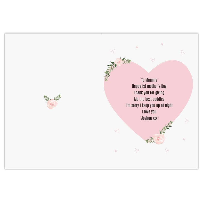 First Mother's Day personalised Mother's Day greeting card | PhotoFairytales