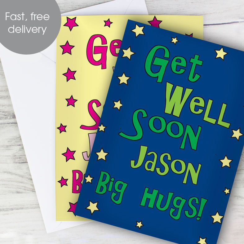 Personalised Get Well Soon Card | PhotoFairytales