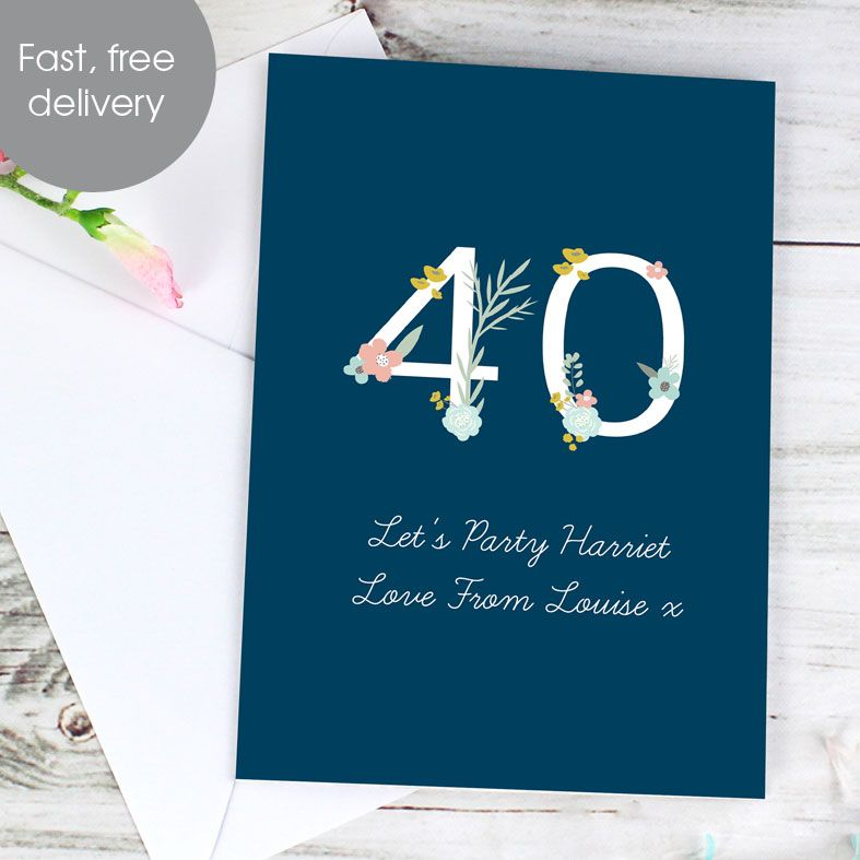 Personalised Age Greeting Card Floral | PhotoFairytales