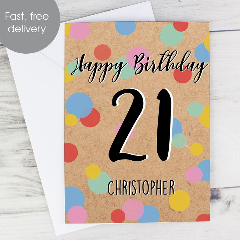 Personalised Age Greeting Card Confetti | PhotoFairytales