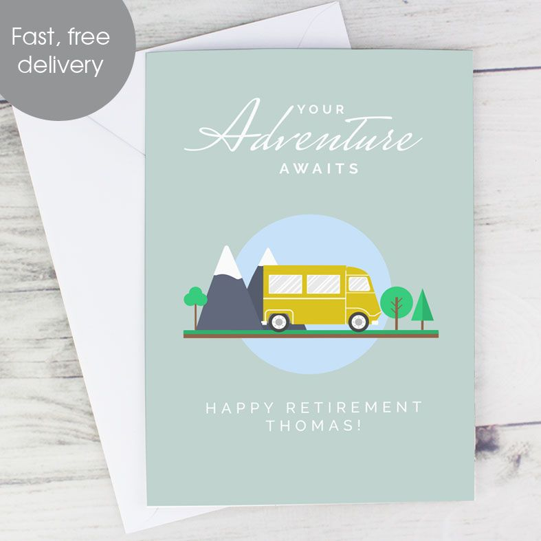 Personalised Retirement Leaving Bon Voyage Card | PhotoFairytales