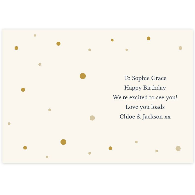 Personalised Celebration Card Gold Champagne Flutes | PhotoFairytales