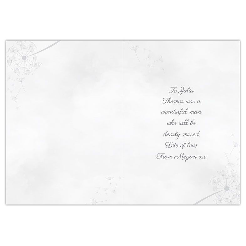 Deepest Sympathy personalised greeting card | PhotoFairytales