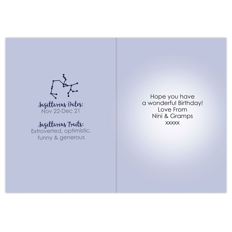 Personalised Zodiac Astrology Sign Card   PhotoFairytales