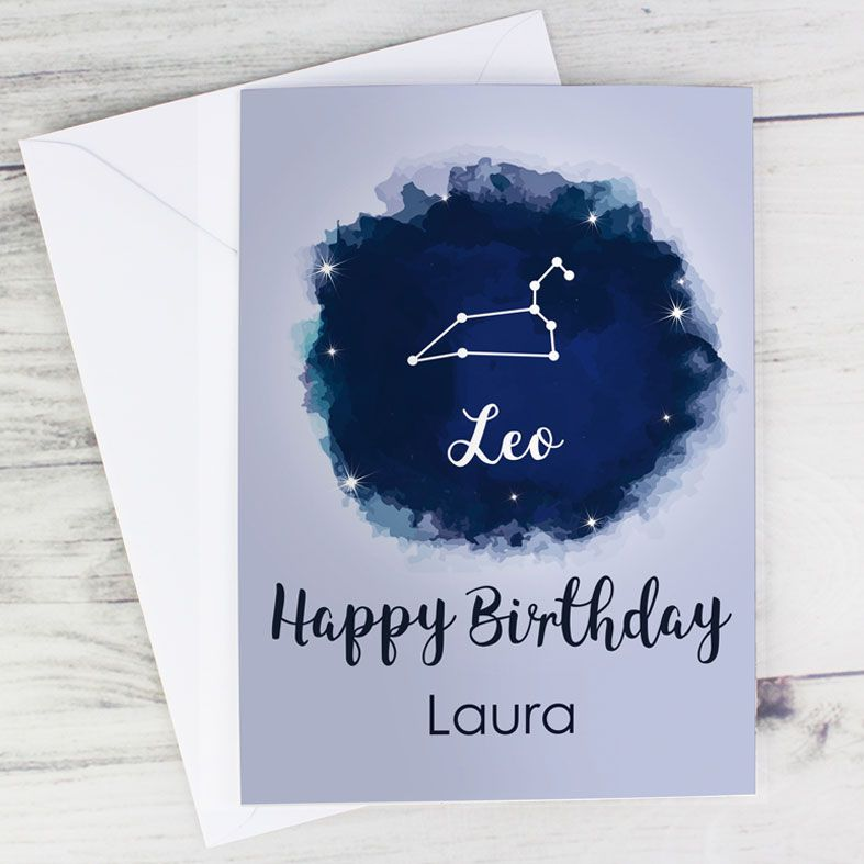 Personalised Zodiac Astrology Sign Card | PhotoFairytales