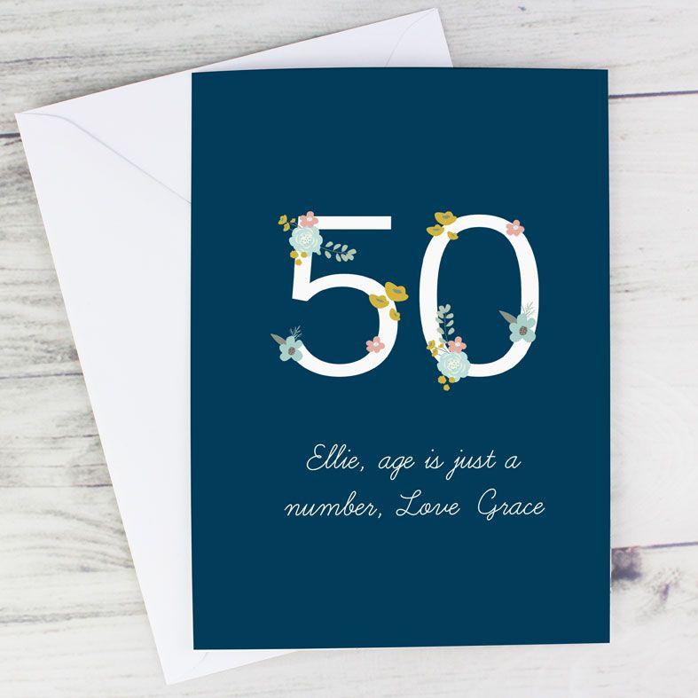 Personalised Age Birthday Card Floral | PhotoFairytales