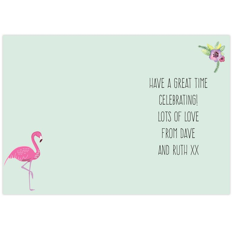 Personalised Flamingo Greeting Card | PhotoFairytales