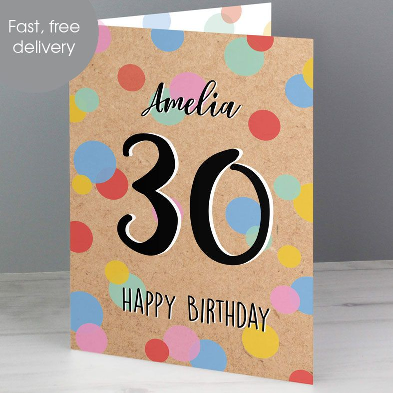 Personalised Age Birthday Card Confetti | PhotoFairytales