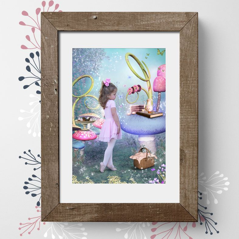 Sweet Treat, fairy tale fantasy image created from your own photo into unique personalised portrait and bespoke wall art | PhotoFairytales