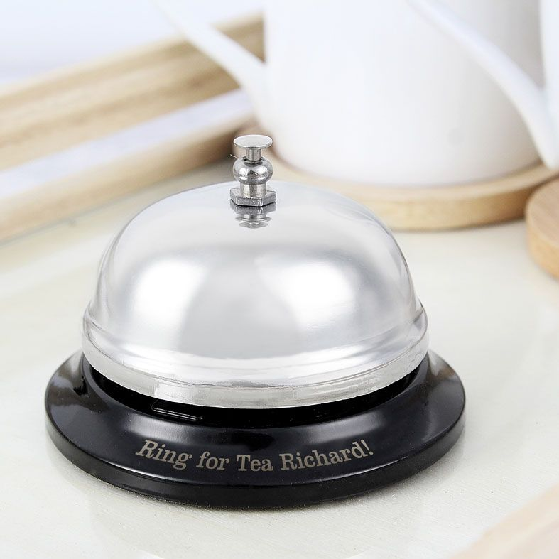 Personalised Service Bell | fully functioning chrome bell, ring for service, personalised gift