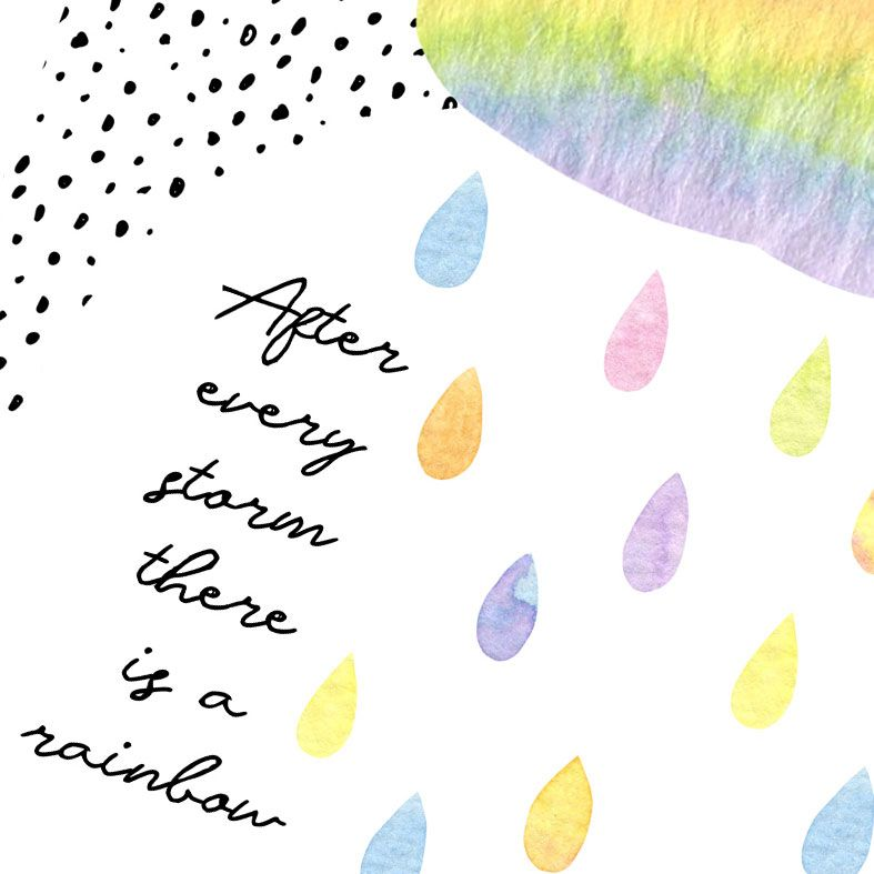 After Every Storm Rainbow Art Print | made to order motivational wall art from PhotoFairytales