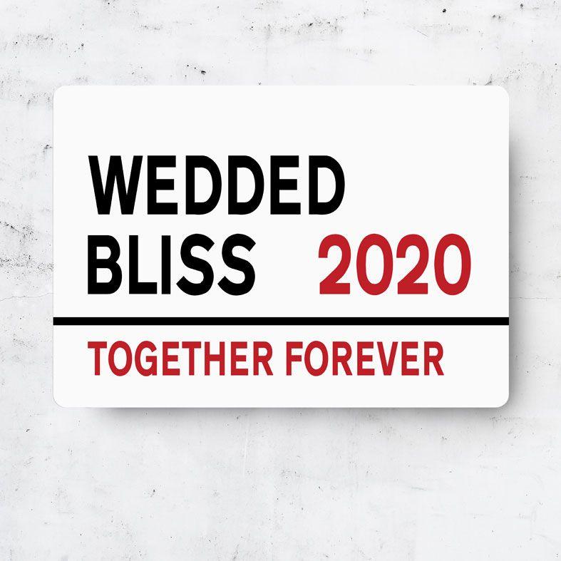 Personalised Wedding Metal Street Sign | Handmade Custom Wall Signs, Personalised Aluminium Signs, Personalised Wedding or Anniversary Gift, 10th Wedding Anniversary Gift Idea, Tin Aluminium Gift