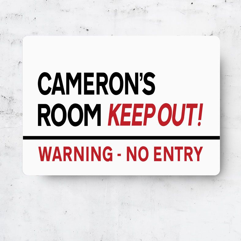 Personalised Keep Out Room Sign | Personalised Metal Street Signs, Personalised Teenager Gift, Personalised Child Gift