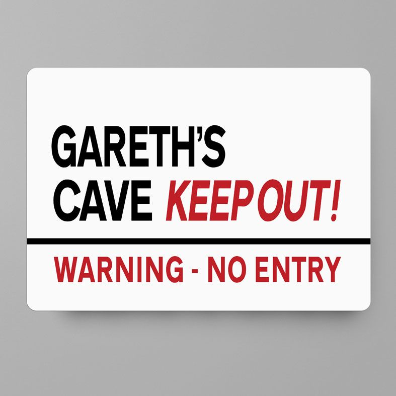 Personalised Keep Out Room Sign   Personalised Metal Street Signs, Personalised Teenager Gift, Personalised Child Gift