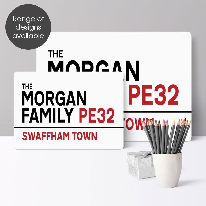 Personalised Metal Street Signs | Handmade Custom Wall Signs, Personalised Aluminium Signs