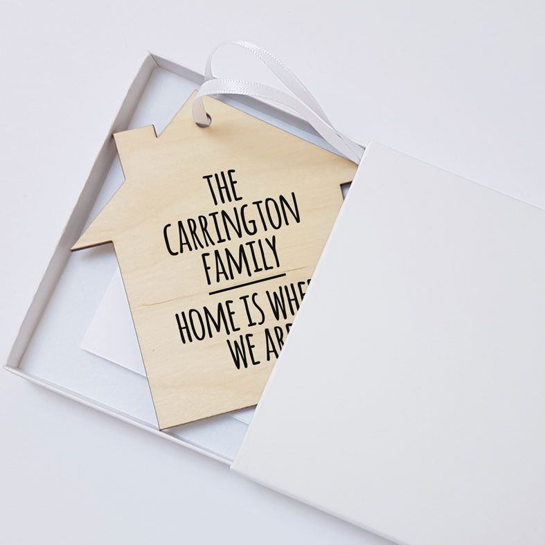 Mini Wooden Message Plaques | Personalised Gift Wrapped Present, Handmade Custom Wood Hanging Signs, Gift Boxed, Contemporary Wooden Plaque Designs, Letterbox Friendly Personalised Gift