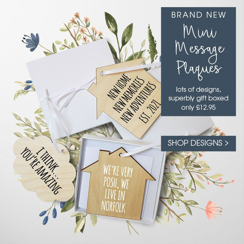Personalised Mini Wooden Message Plaques | Personalised gift wrapped present, gift boxed gift, letterbox friendly gift. from PhotoFairytales