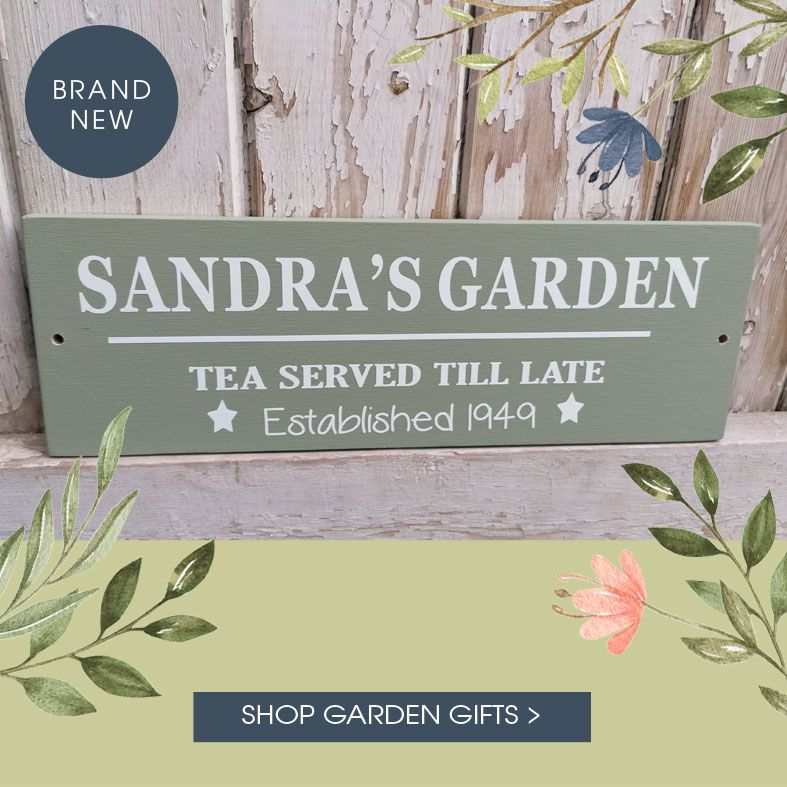 Personalised Gifts for Gardeners | Handmade gifts for your garden, personalised garden decorations from PhotoFairytales