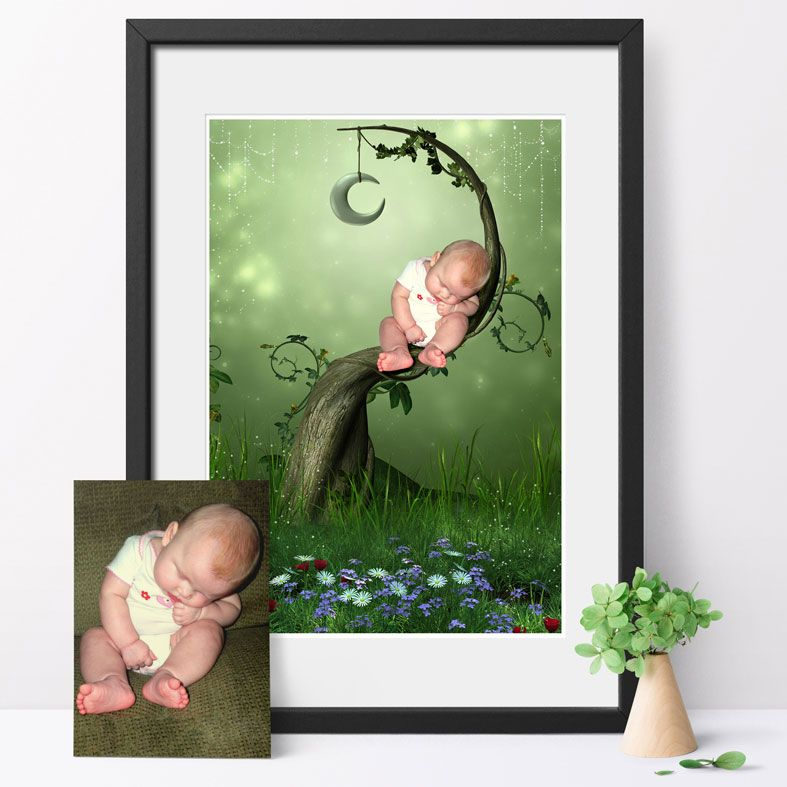 Forty Winks, fairy tale fantasy image created from your own photo into unique personalised portrait and bespoke wall art   PhotoFairytales