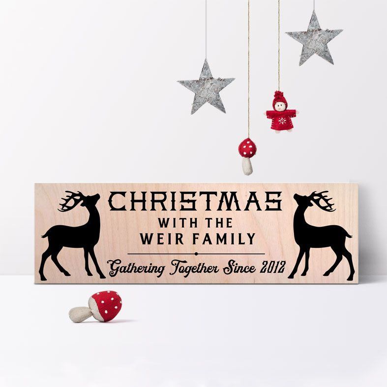 Personalised Wooden Christmas Signs | Handmade Wood Plaques Family Christmas Decorations, from PhotoFairytales