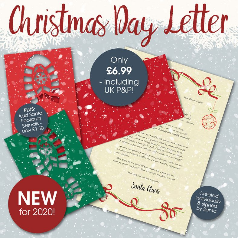 Personalised Christmas Day Santa Letters | Magical surprise on Christmas - Santa will leave a handsigned letter for your little boy or girl! From PhotoFairytales