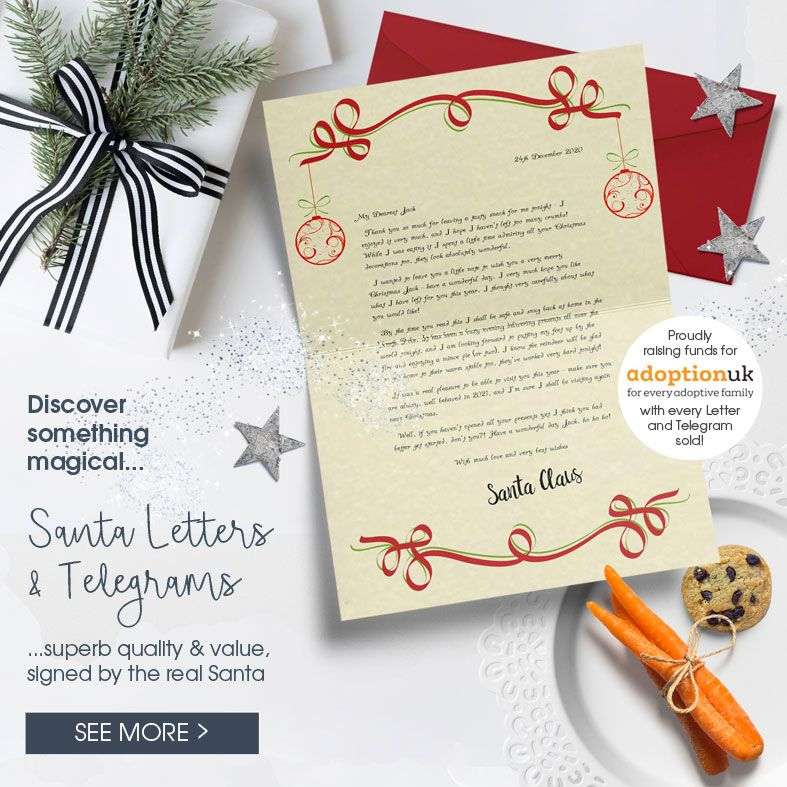 Personalised Santa Letters and Telegrams | individually created, signed by Father Christmas - includes extra gifts, superb quality and value, excellent customer reviews - from PhotoFairytales