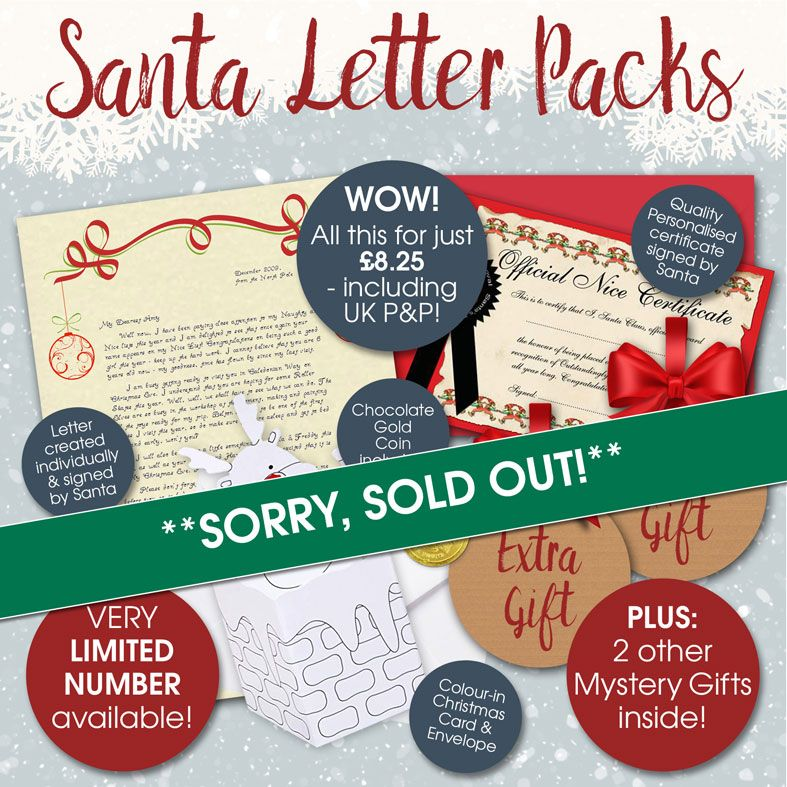 Limited edition Personalised Santa Letters and Telegrams | individually created, including extra gifts, superb quality and fantastic value with brilliant customer feedback. PhotoFairytales