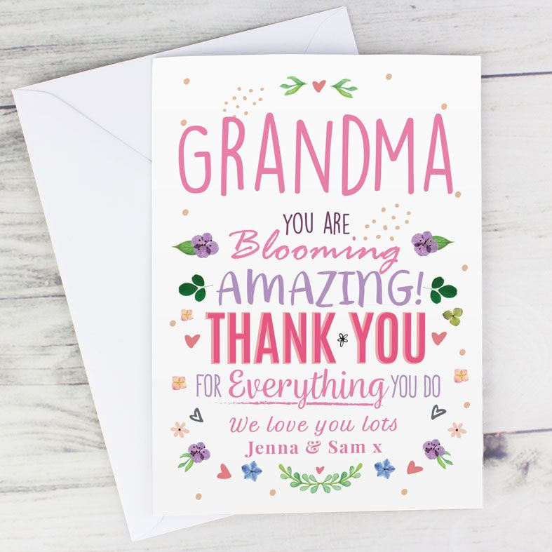 You Are Blooming Amazing - Personalised Card. Free inside printing. Fast dispatch. Free UK P&P.