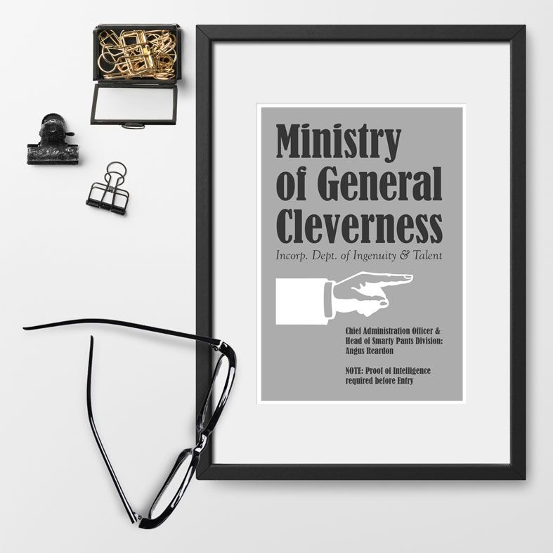 Ministry of Silly Personalised Prints | home office, craft room, graduation gift, work colleague gift from PhotoFairytales