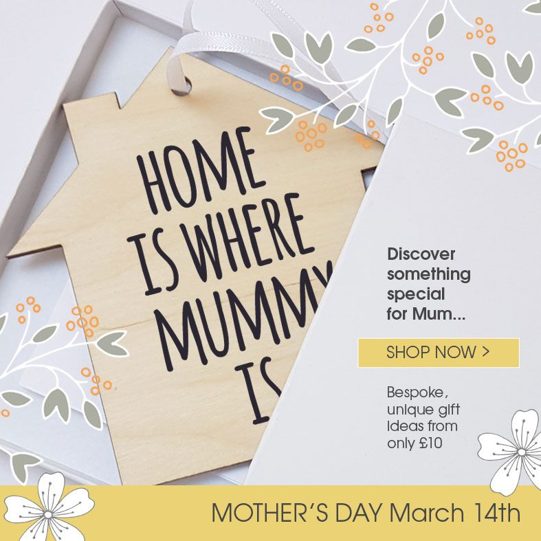Personalised Mother's Day Gifts, free UK delivery