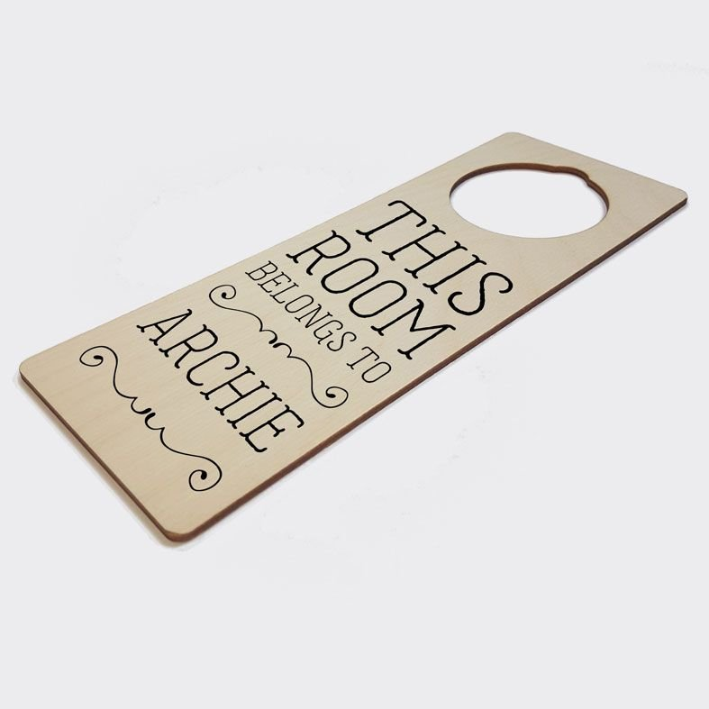 Personalised Bedroom Door Hanger   Bedroom Door Sign, This Room Belongs To Sign, PhotoFairytales