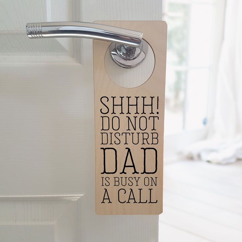 Personalised Door Hanger | Do Not Disturb Meeting Door Sign, Home Office Gift, Work From Home Gift, PhotoFairytales
