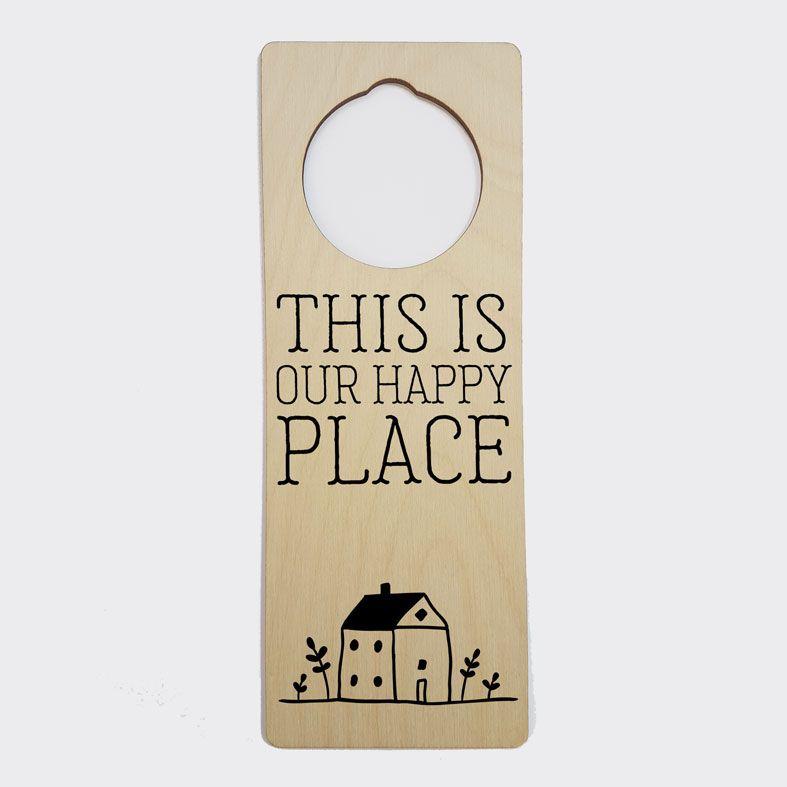 Personalised Door Hanger   Happy Place Door Sign, New Home Gift, Housewarming Gift, PhotoFairytales