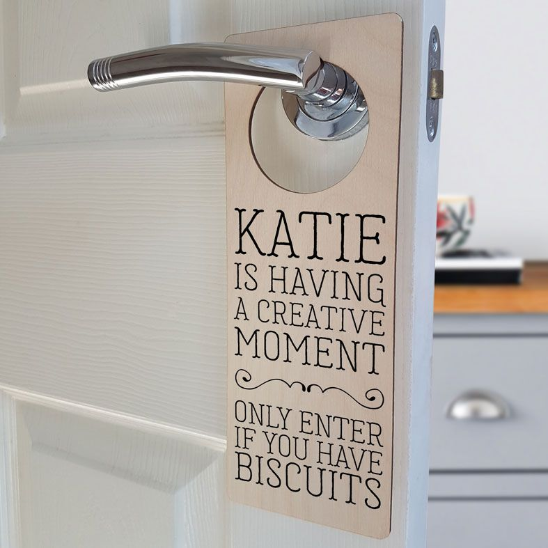 Personalised Door Hanger Signs | Custom Made Designs, Free P&P