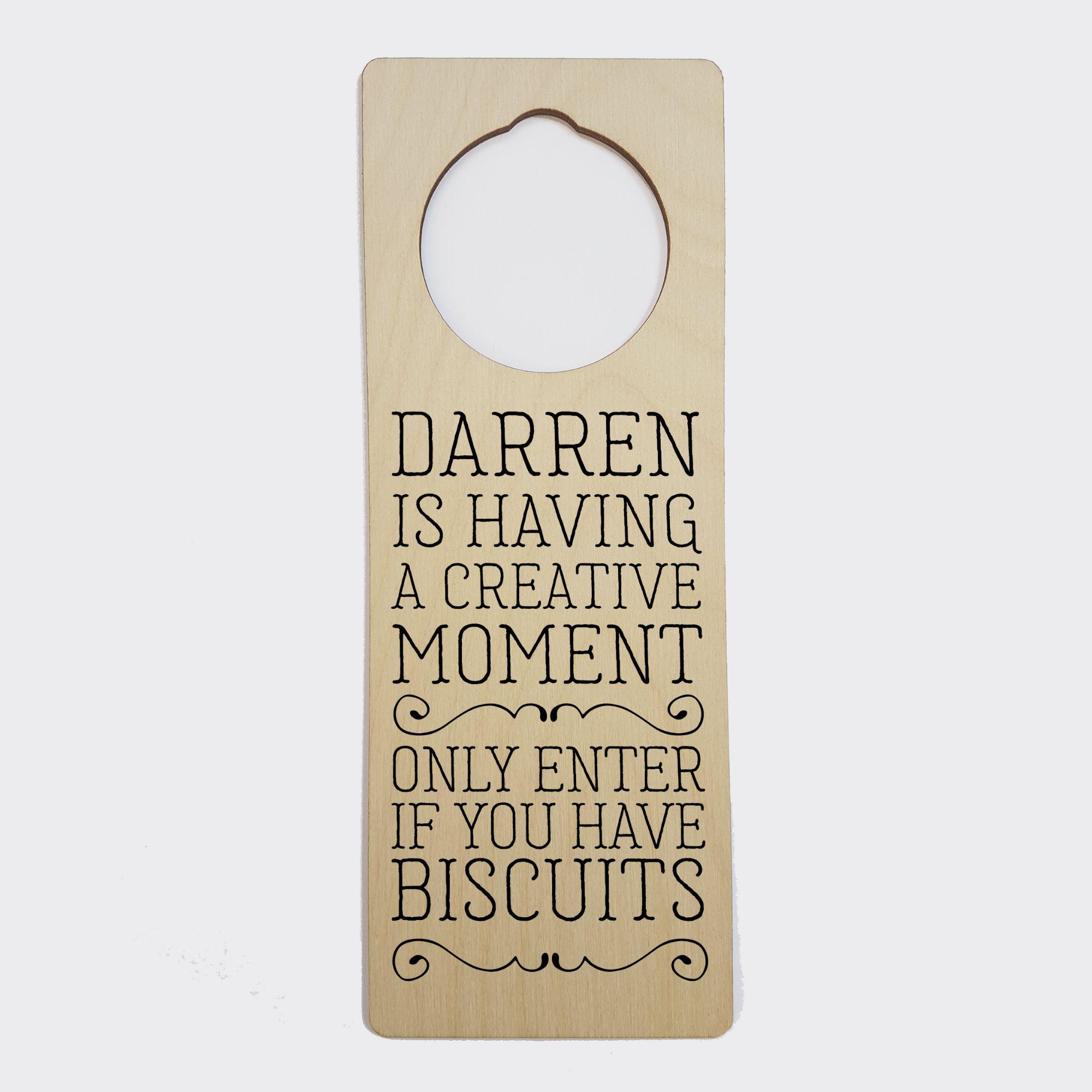 Personalised Door Hanger | Craft Room Door Sign, Hobby Room Sign, PhotoFairytales