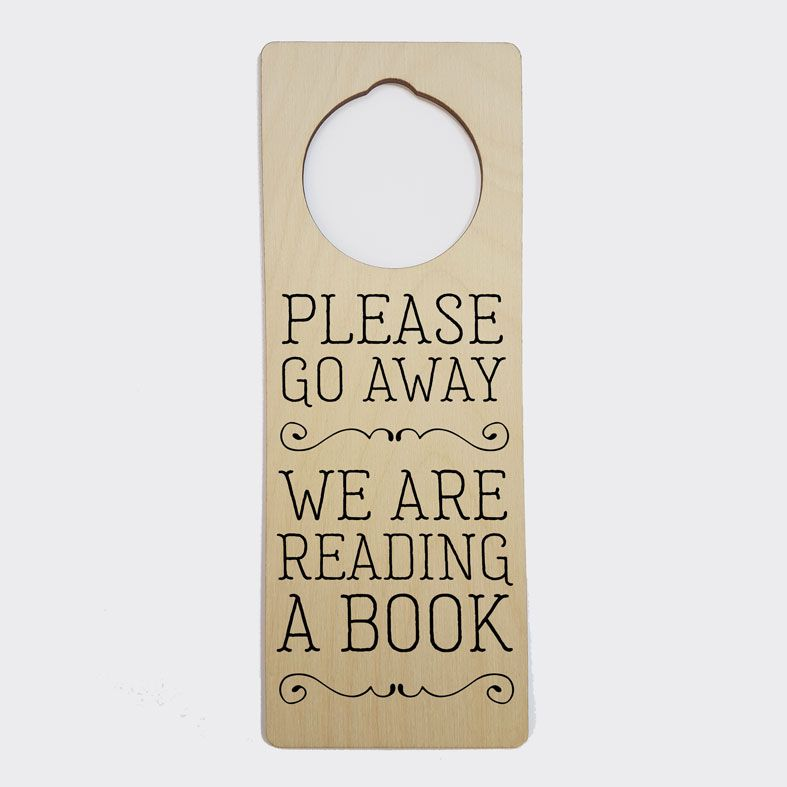 Personalised Door Hanger | Go Away I'm Reading A Book Door Sign, Book Lover Gift, Bookworm Gift, PhotoFairytales