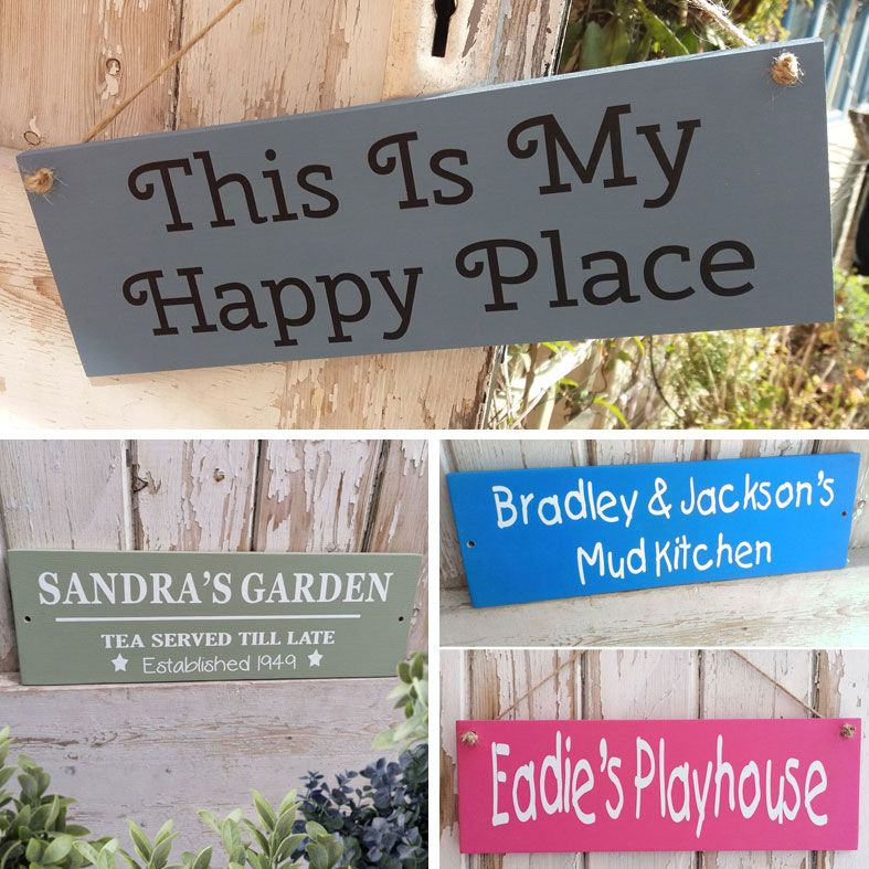 Handmade Outdoor Wooden Signs and Plaques | any wording, bespoke exterior wood garden house signs and plaques