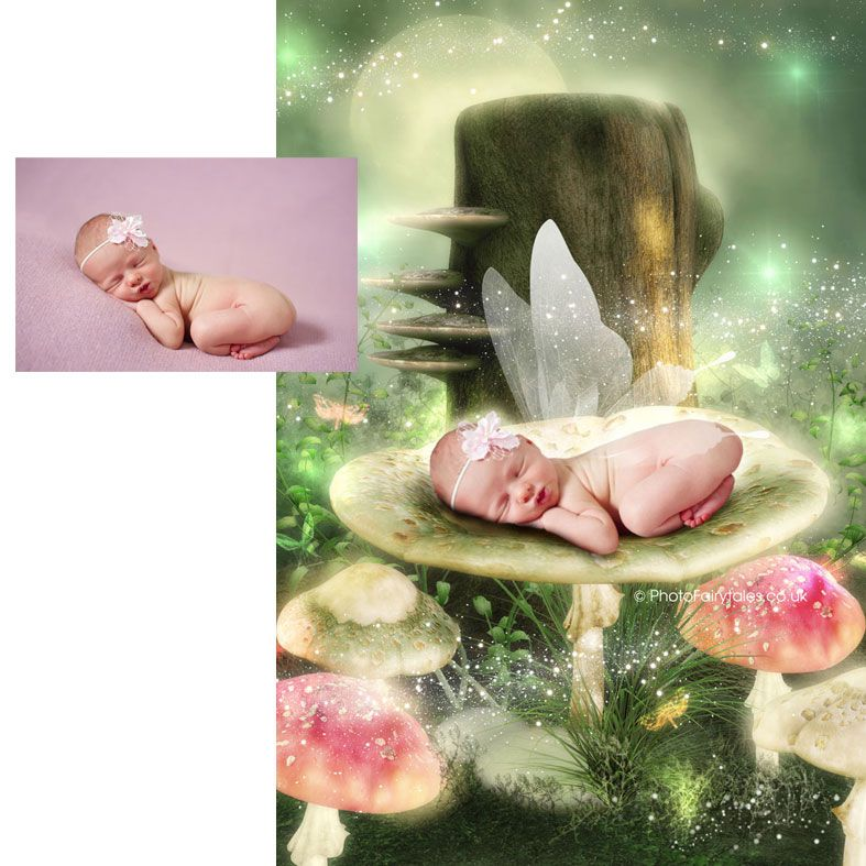 Where the Fairies Sleep, fairy tale fantasy image created from your own photo into unique personalised portrait and bespoke wall art   PhotoFairytales