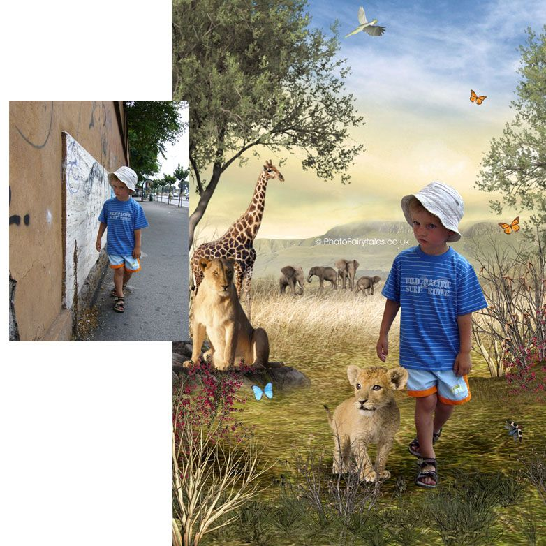 Savannah, bespoke fantasy image created from your own photo into unique personalised portrait and custom wall art | PhotoFairytales