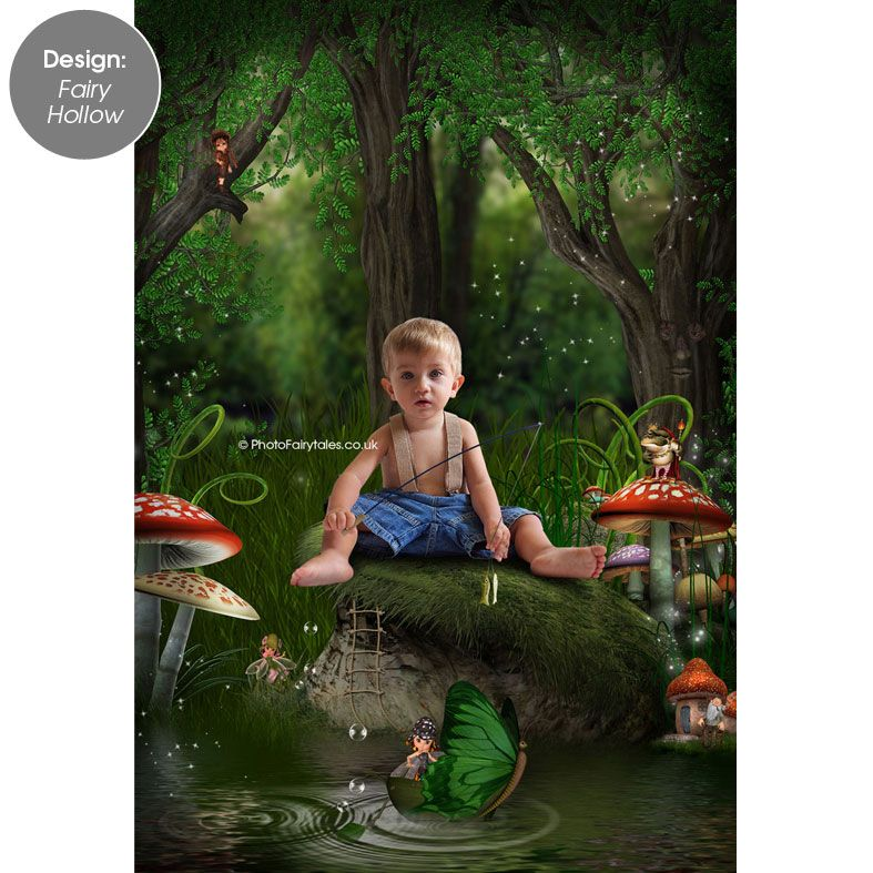 Fairy Hollow, fairy tale fantasy image created from your own photo into unique personalised portrait and bespoke wall art | PhotoFairytales