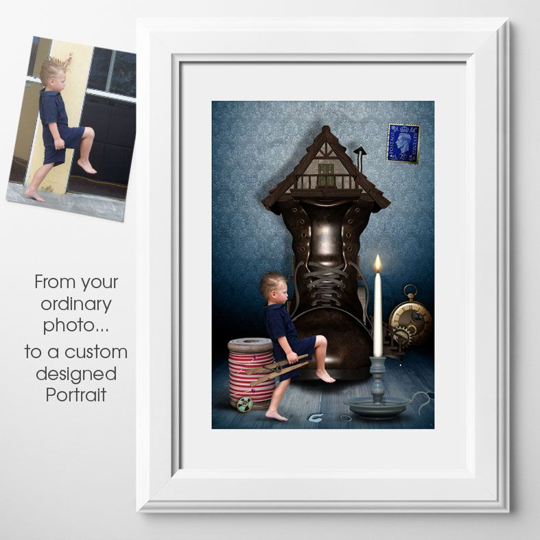 The Borrower, bespoke fairytale fantasy image created from your own photo into unique personalised portrait and custom wall art | PhotoFairytales
