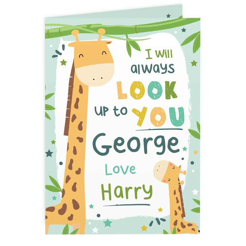 Personalised Card for Father's Day or Mother's Day. Free inside printing. Fast dispatch. Free UK P&P.