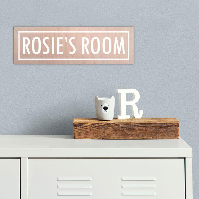 Personalised Room Name Signs   Handmade, Wooden Door Name Plaque for Child's Bedroom or Nursery Door. Free UK Delivery.