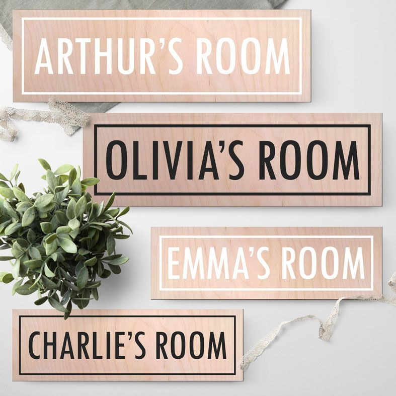 Personalised Room Name Signs | Handmade, Wooden Door Name Plaque for Child's Bedroom or Nursery Door. Free UK Delivery.