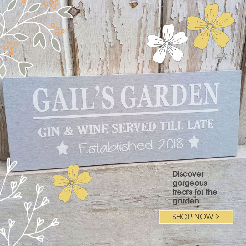 Personalised Garden Gifts and Decorations | Handmade from PhotoFairytales