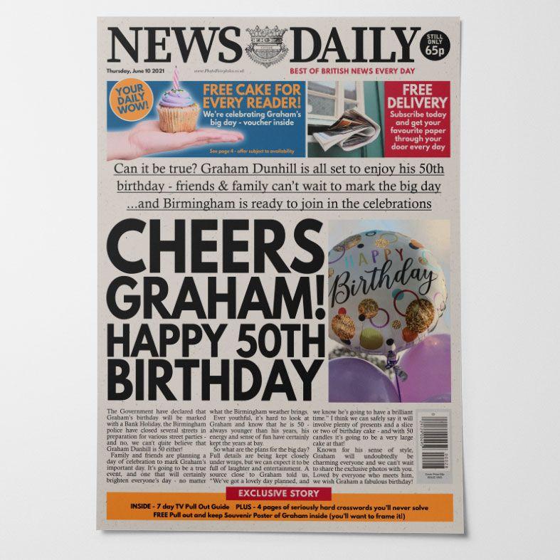 Personalised Birthday Newspaper    PhotoFairytales