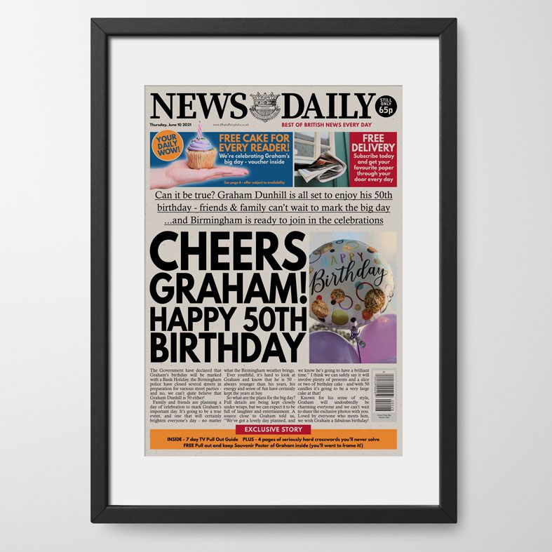 Personalised Birthday Newspaper | personalised newspaper gift from PhotoFairytales