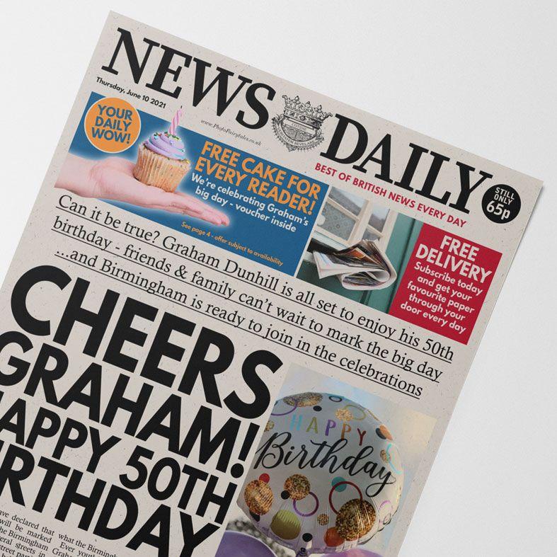 Personalised Birthday Newspaper   personalised newspaper gift from PhotoFairytales