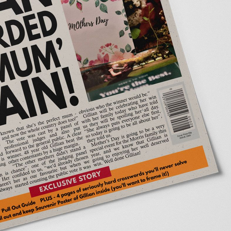 Personalised Mother Day Newspaper | personalised newspaper gift for mum from PhotoFairytales