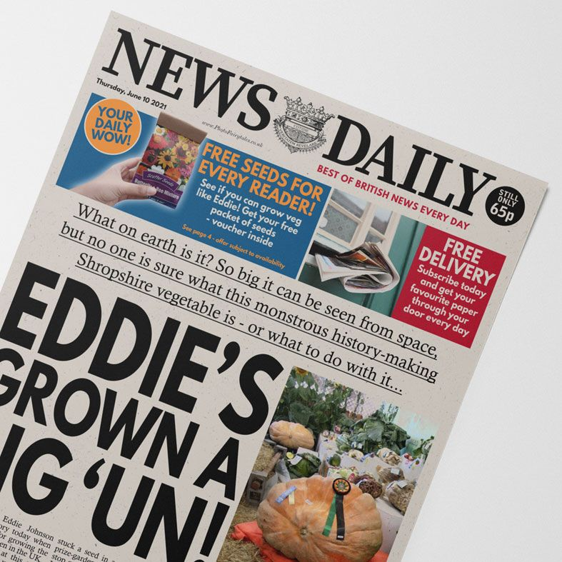 Personalised Gardening Newspaper   personalised newspaper gift for gardeners from PhotoFairytales